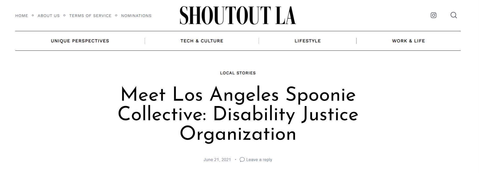 Shoutout LA - Meet Los Angeles Spoonie Collective: Disability Justice Organization